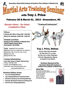 MA Seminar Flyer Troy Price Greensboro, NC